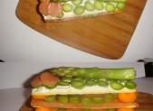 mille-feuilles saumon asperges